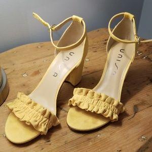 Unisa yellow Undiara sandal 7.5
